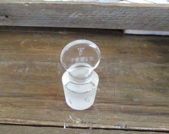 Vintage  Pyrex Glass Bottle Top Stopper