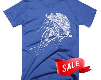 Mens Medium On Sale - Jellyfish Graphic T Shirt Nautical Tshirts Gifts For Him Valentines Day Gift Scuba Diver T Shirt Birthday Gifts