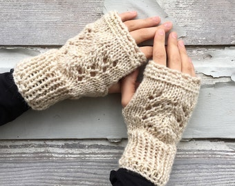 Trellis Lace Handwarmers   -   Three Color Choices