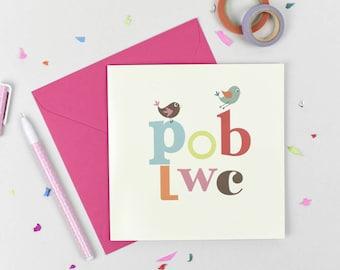 Cardiau Pob Lwc,  Good Luck Card in Welsh
