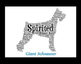 Giant Schnauzer, Giant Schnauzer art, Custom, Personalize, Pet Gift, Print, Dog Art, Pet Art, Pet Memorial, Custom Dog