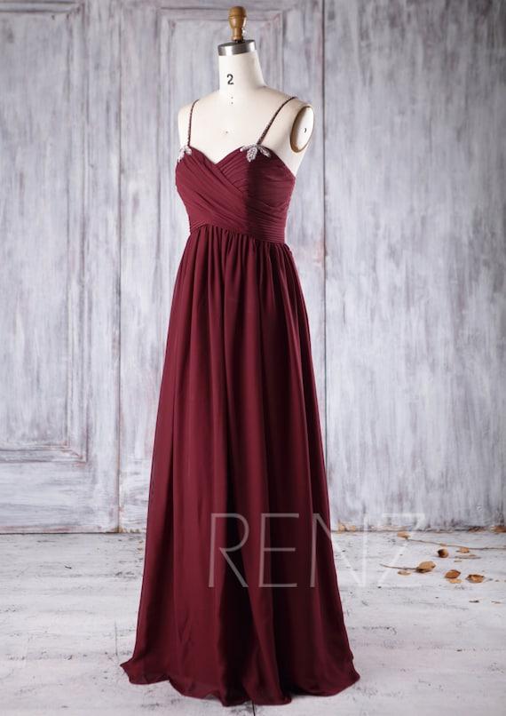 2017 Cabernet Chiffon Bridesmaid Dress