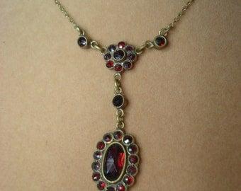 Antique Bohemian Garnet Necklace