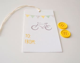 To and From Gift Tags - Gift Packaging - Set of 10 - Bicycle Tags