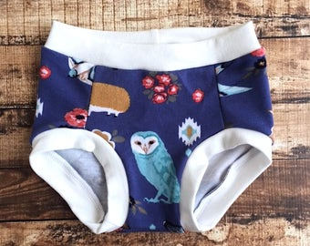 forest animal underwear/ toddler underwear/ Toddler trainers/ Potty training pants/ Eco friendly trainers/ Potty training underwear/