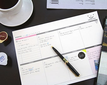 Journaling Spot - A4 Size Weekly Desk Note Pad - 60 sheets