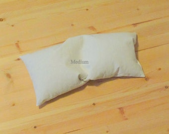 Medium Firm Mac's Natural Organic Buckwheat Hull Neck and Lumbar Pillow, No Zipper