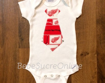 Detroit Red Wings Boys Bodysuit or Toddler Shirt