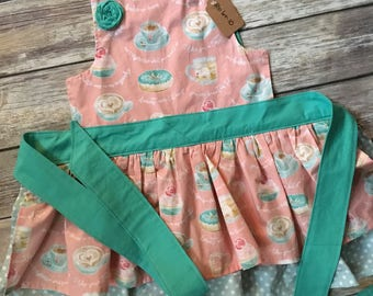 Girl Size 6-10 Apron in Cupcake