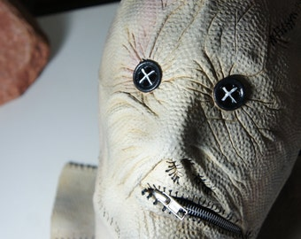 Night Breed Dr Decker Latex mask with metal zipper - NEW - FREE SHIPPING.
