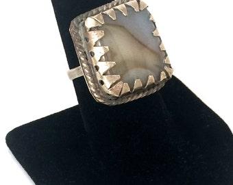 Primitive Agate Ring