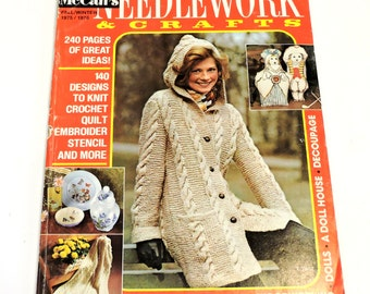 McCall's Needlework & Crafts Magazine,Fall Winter 1975/76,1970s Vintage Knitting Crochet Fiber Arts Sewing and Craft Ideas itsyourcountry