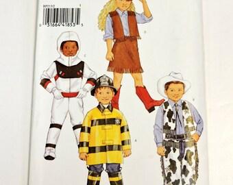 Butterick 3244/BP213 Pattern,Children Boys Girls Halloween Costume,Cowboy Cowgirl Fireman Astronaut Original Uncut Sz 2,3,4,5 itsyourcountry