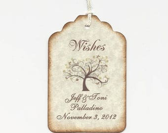 Wedding Gift Tags Singapore : to 50 Wedding Tags / Wedding Wish Tree Tags / Favor Tags / Escort Tags ...