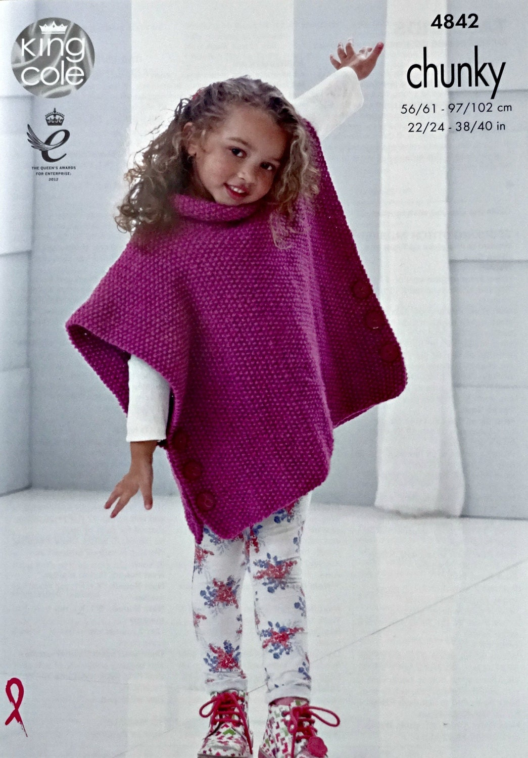 Girls knitting pattern k4842 girlsladies very easy knit moss girls knitting pattern k4842 girlsladies very easy knit moss stitch tabbardponcho knitting pattern chunky bulky king cole bankloansurffo Gallery