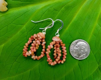 Shell Earrings Kauai Beach Earrings Rare Shells Hoop Earrings Authentic Kauai Jewelry-Eco Freindly Collected-Island Stlye Earrings