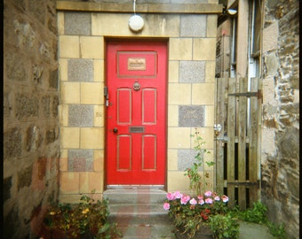Cairngorms Red Door - Giclée Print from Holga Photograph, Color Film