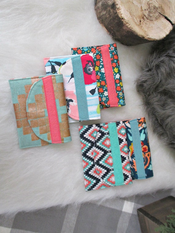 Gift Card Case Bundle of 5. Buyer's Choice of 5 Card Cases. Gifts Under 10 each. Stocking Stuffers.