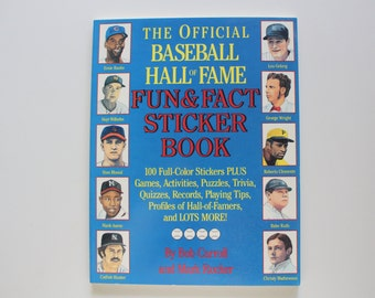 Vintage Baseball Hall of Fame Sticker Book 1989
