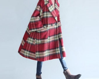 Women oversized long Wool Coat Loose cloak Overcoat