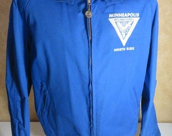 Super Vintage Minneapolis North Side Men Club Jacket Size Large Artex