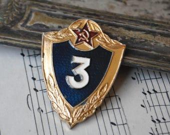 Vintage Soviet Russian enamel military badge.