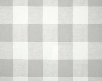 "One 90"" Round Tablecloth - Anderson Checks - Ecru"