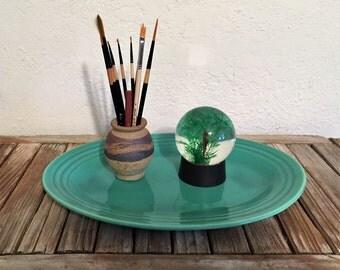 Vintage Turquoise Bauer Platter