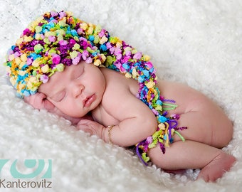 Gorgeous Baby Girl Hat - Baby Hat - Baby Stocking Hat Great Colors &  Fun Pom PomTexture -OTHER COLORS AVAILABLE