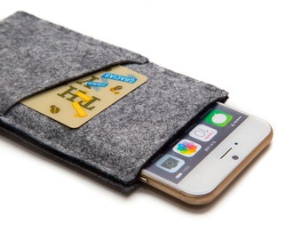 iPhone 7 sleeve, cover case, Phone wallet casw, gift for dad / boyfriend