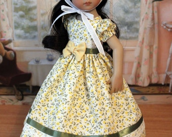 Spring Dress and Hat for Dianna Effner 13 Inch Little Darling Doll