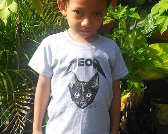 MEOW tee, Toddler t-shirt, Trendy kids clothes, Hipster kids clothes, child t-shirt, Screen Printed Shirts, Graphic Tee, Kids Shirt
