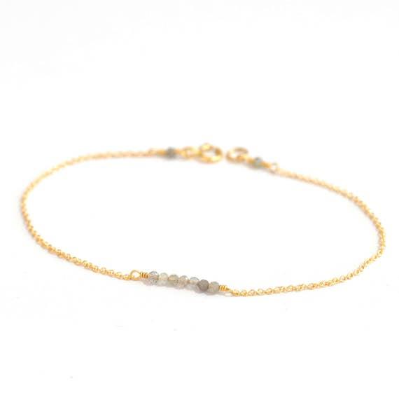 GoldFIlled. Tiny Labradorite gold bracelet, Labradorite Bracelet, Dainty gold bracelet, Delicate gold bracelet, Minimalist, everyday Jewelry