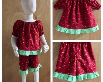 Rudolph Christmas Pajamas, Top and Shorts, size 3t
