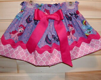 Girls Skirt Custom...My Little Pony N Pink...Available in 0-12mon,1/2,3/4,5/6,7/8, 9/10 Bigger Sizes Available