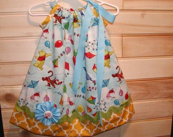 Winnie The Pooh N Friends Inspired...Girls Pillowcase Dress Infant toddler sizes 0-6, 6-12, 12-18, 18-24 mon, 2T, 3T..Bigger sizes AVAILABLE