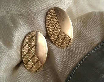 Vintage gold tone cufflinks cuff links