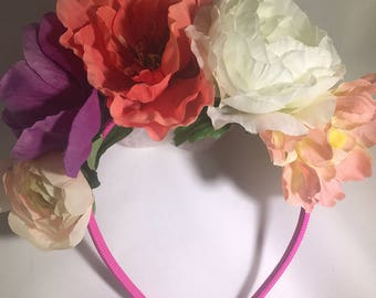 Simple Springtime Floral Crown Headband