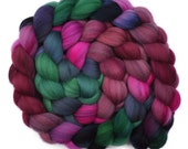 Hand dyed roving - 21.5μ Merino wool combed top spinning fiber - 4.0 ounces - Welling Tears 2