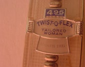 "Tailored Woman Vintage SPEIDEL Twist-O-Flex Watch Band  4.95 In Original Package  5 3/8"" L Silver Band"