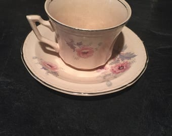 Alice Anne Mayglow 1930 Edwin M. Knowles  Cup and Saucer China