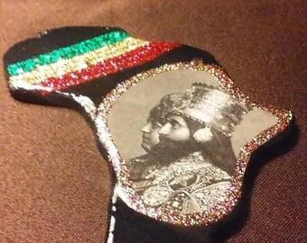 Rastafari Guidance Pendent Haile Selassie I King Alpha and Queen Omega Heartical Vibes