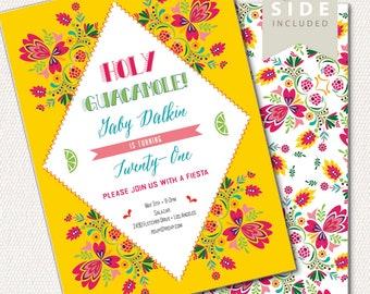 Fiesta Birthday Invitation / Mexican Invite Printable / Taco Party / Sweet Sixteen / First Birthday / Cumpleanos Fiesta / Cinco De Mayo