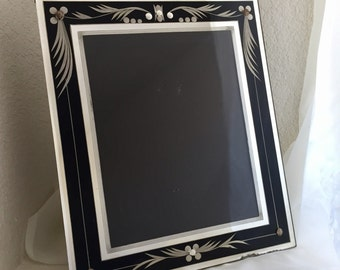 art deco frame remarkable condition 11x13 for 8x10 image for wall or tabletop slight as is see photo