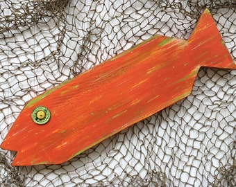Wooden Fish Wall Art - Painted Fish - Key West Decor - Caribbean Colors - Beachy Art