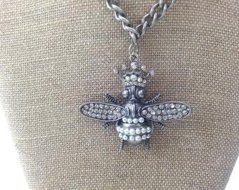 Queen Bee Statement Necklace Pendant