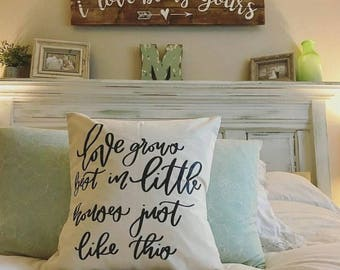 Love Grows Best In Little Houses Throw Pillow Cover