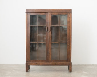 Antique Glass Cabinet / Bookcase