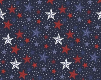Americana Stars on Navy Blue from Riley Blake's Lost & Found Americana Collection