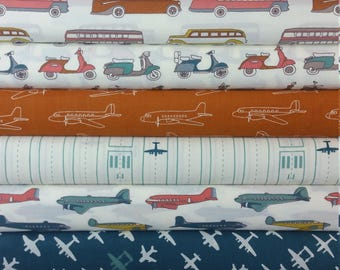 Trans-Pacific ORGANIC FABRIC Bundle from Birch Organic Fabrics (11 Fabrics Total PLUS 2 Panels)